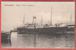 Nave Postale Città Di Sassari In Partenza Da Civitavecchia 1914 Navi Navires Ships Schiffe - Commercio