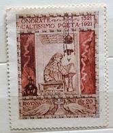 RAVENNA  1321 1921  ONORANZE A DANTE ALIGHIERI  ERINNOFILO CHIUDILETTERA ETICHETTA PUBBLICITARIA - Francobolli