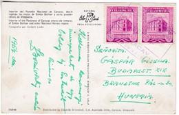 M412 Venezuela Timbres Sur Carte Postale 1954 Mi 946 Bureau De Poste Principal Caracas - Venezuela