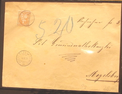 Schweiz Suisse 1881: HELVETIA 20c Orange Zu 32 Mi 24 Yv 37 Mit O OBERHELFENSCHWIL 14.II.81 Nach Mogelsberg - 1862-1881 Helvetia Assise (dentelés)