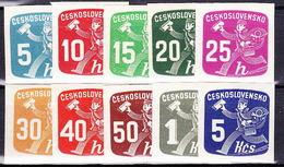 ** Tchécoslovaquie 1945 Mi 480-9 (Yv TPJ 26-35), (MNH) - Newspaper Stamps