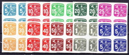 ** Tchécoslovaquie 1945 Mi 480-9 (Yv TPJ 26-35) Blocs De 4, (MNH) - Newspaper Stamps