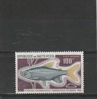 Haute Volta Neuf **   1969   Poste Aérienne N° 66   Faune. Poisson Phenacogrammus Labrensis - Haute-Volta (1958-1984)