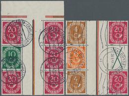 Bundesrepublik - Zusammendrucke: 1951, Posthorn 10+Z+20, 20+Z+20 (2 Stck.), 4+Z+20 (2 Stck.), Selten - BRD