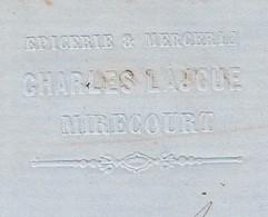 Facture 1864 / Charles LAJOUE / Epicerie Mercerie / 88 Mirecourt / Losange GC - France