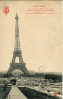 CPA - PARIS -  TOUR EIFFEL - VUE PRISE DU BASSIN DU TROCDERO - Tour Eiffel