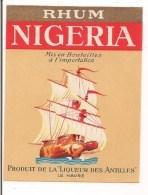 Etiquette RHUM Nigéria - Produit De La Liqueur Des Antilles - Le Havre - Décor Bateau-bouteille - - Rhum