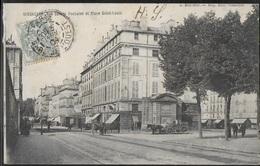 CPA 78 - Versailles, Rue Satory - Fontaine Et Place Saint-Louis - Versailles
