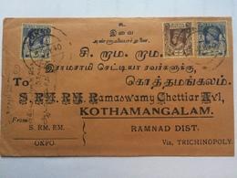BURMA - George VI Cover 1940 - Okpo To Kothamangalam India - Birmanie (...-1947)