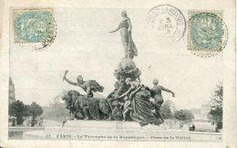 CPA - PARIS - PLACE DE LA NATION - LE TRIOMPHE DE LA REPUBLIQUE - Statues