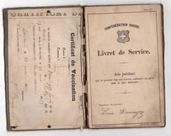 SUISSE 1879: Livret De Service Militaire Localisé à Pully  état Moyen Mais Complet - Vieux Papiers