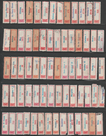 1950-1980 Romania, HUGE Collection Of 467 Registered Airmail Vintage Labels - Aéreo