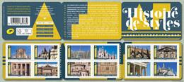 France 2019 - Carnet - Histoire De Styles - Architecture ** (adhésifs) - France