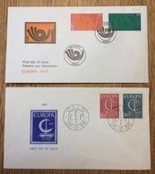 Norway 1966 + 1973, Europa CEPT, 2x FDC - Europa-CEPT