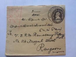 BURMA - 1937 George V Cover - Ywathit To Rangoon - Birmanie (...-1947)