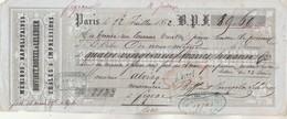 Lettre Change 12/7/1852 BOFFINET ROUXEL & LELEDIER Mérinos Napolitaines Châles PARIS - Alriq Figeac Lot - Lettres De Change