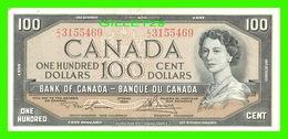 BILLETS - CENT DOLLARS 1954 - BANQUE DU CANADA - MINT CONDITION - No C/J 3155469 - - Canada