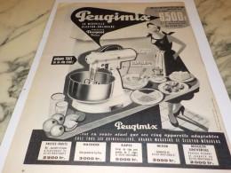 ANCIENNE PUBLICITE PEUGIMIX DE PEUGEOT FRERE 1955 - Publicité