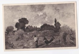 AK76 Art Postcard - Cornfield With Figures By Constable - Paintings