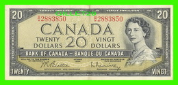 BILLETS - VINGT DOLLARS 1954 - BANQUE DU CANADA - No B/W 2883850 - DEVIL'S FACE PORTRAIT - - Canada