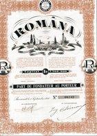 ROMÂNA - Actions & Titres