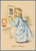 Ansichtskarten: Propaganda: 1940/1943 Ca, 12 Glückwunschkarten Kinder Mit Militärischen Motiven, All - Partis Politiques & élections