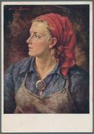 Ansichtskarten: Propaganda: 1940/1944 Ca., RAD Reichsarbeitsdienst Für Die Weibliche Jugend, Kleine - Partis Politiques & élections