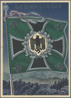 """Ansichtskarten: Propaganda: 1941 Ca., 13 Farbige Propagandakarten Aus Der Serie """"Die Siegreichen Fah - Partis Politiques & élections"""