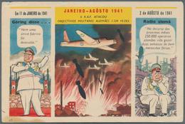 Ansichtskarten: Propaganda: 1941, 8 Spanische Propagandakarten Mit Luftwaffe, Göhring Und Hitler, Al - Partis Politiques & élections