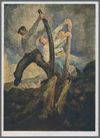 Ansichtskarten: Propaganda: 1941/1942, 35 Verschiedene Farbige Künstlerkarten Aus Den Großen Deutsch - Partis Politiques & élections
