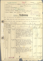 Ansichtskarten: Propaganda: DOKUMENTE, Berlin 1943, Rechnungen Und Baupläne Bau Des Filmbunker Der L - Partis Politiques & élections