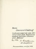 """Ansichtskarten: Propaganda: 1944, """"Das Bauen Im Neuen Reich"""", Buch Mit Widmung Und Unterschrift SA O - Partis Politiques & élections"""