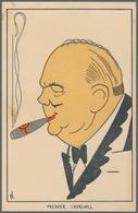 Ansichtskarten: Propaganda: 1945, 12 Ansichtskarten Mit Karikaturen Alliierten Aus Den Niederlanden, - Partis Politiques & élections