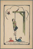 Ansichtskarten: Propaganda: 1945, ANTI-NS, 12 Karikaturen Niederlande, Alle Ungebraucht Und In Sehr - Partis Politiques & élections