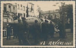 Ansichtskarten: Propaganda: 1945, V1 Und V2 Rakete, 4 Fotokarten Antwerpen, Alle Ungebraucht Und In - Partis Politiques & élections