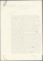 Ansichtskarten: Propaganda: DOKUMENTE, Korrespondenz Oberstleutnant Herbert Graf Von Einsiedel Betr. - Partis Politiques & élections