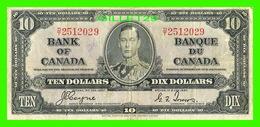 BILLETS - DIX DOLLARS 1937 - BANQUE DU CANADA - No D/T 2512029 - - Canada