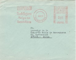 31415. Carta BUENOS AIRES (Argentina) 1957. Franqueo Mecanico EL COMERCIO, Compañia Seguros - Argentina