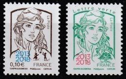 Année 2018 - N° 5234 Et 5235 - Marianne De Ciappa & Kawena - 0, 10 € + Lettre Verte Surchargés 2013-2018 - 2013-... Marianne De Ciappa-Kawena