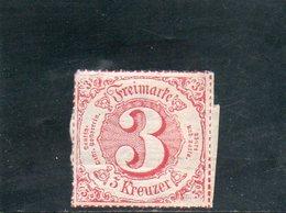 THURN UND TAXIS 1866 * PAPIER AU VERSO - Tour Et Taxis