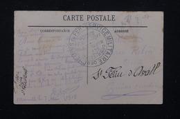 FRANCE - Cachet De La Commission De Gare De Marseille Sur Carte Postale En 1916 Pour St Feliu D'Avall - L 21795 - Marcophilie (Lettres)