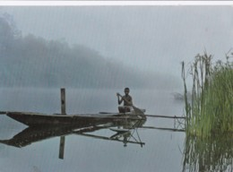 AO60 Early Morning Fishing In A Misty Papuan River - Papua New Guinea