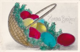 AQ11 Easter Greeting - Basket Of Eggs - Easter