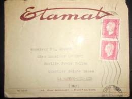 France Marianne De Dulac , Lettre De Toulouse 1946 Pour La Seyne - 1944-45 Marianne (Dulac)