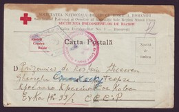 1947 Romania, Red Cross POW Postcard To Russia War Camp, Military Censorship - Lettres 2ème Guerre Mondiale