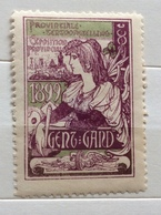 GENZ I GAND  1899 ESPOSITION PROVINCIALE   CHIUDILETTERA ETICHETTA PUBBLICITARIA - Francobolli