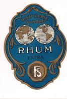 Etiquette  Rhum  Extra - Distillerie Du Nord - Imprimeur Douin Et Jouneau Vers 1925 - - Rhum