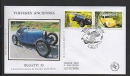 DF / FDC DU TP 3317 & 3322 / AUTOMOBILES / VOITURE ANCIENNES : BUGATTI 35 & COCCINELLE VOLKSWAGEN - Francia