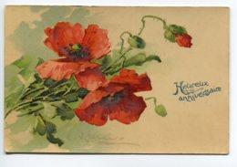 ILLUSTRATEUR 0087 Catharina KLEIN  No 2107 Bel Aspect Glacé Coquelicots  1907 Heureux Anniversaire - Klein, Catharina