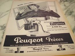 ANCIENNE AFFICHE PUBLICITE PEUGIMIX DE PEUGEOT FRERE 1955 - Publicité